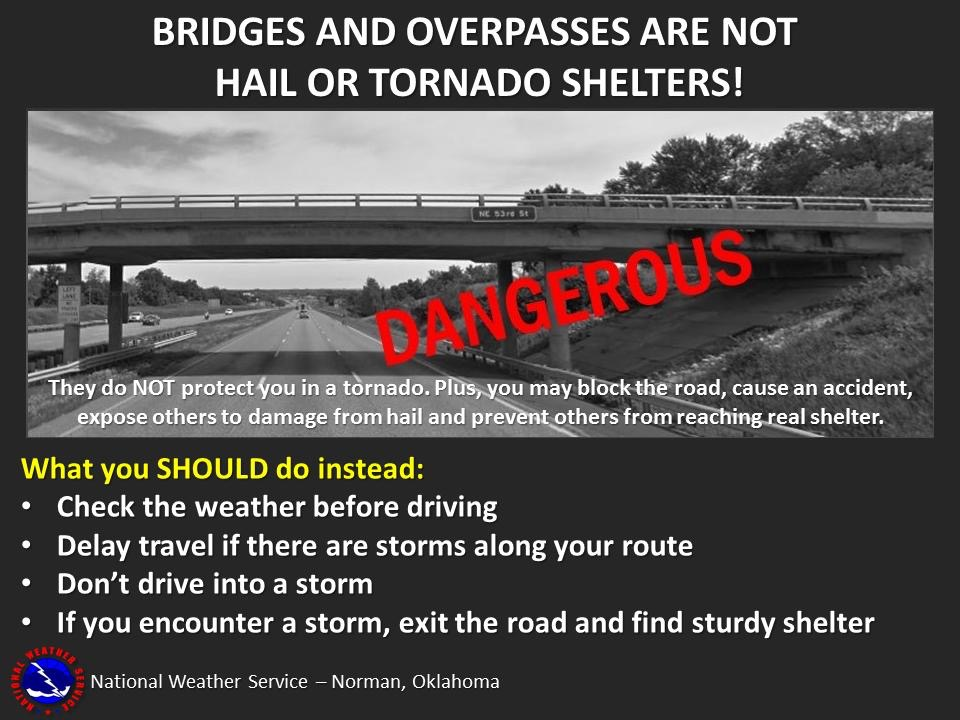 This image has an empty alt attribute; its file name is bridges-and-overpasses-not-tornado-or-hail-shelters.jpg